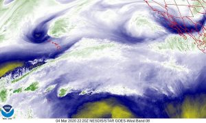GOES-West – Sector View: Tropical Pacific – Water Vapor